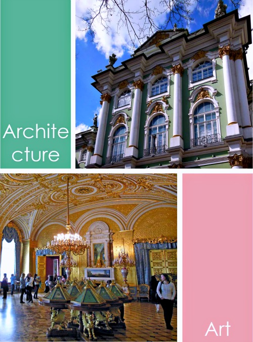 Architecture and Art in Saint Petersburg Russia