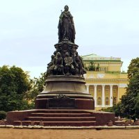 Monument to Catherine the Great (Empress of Russia).