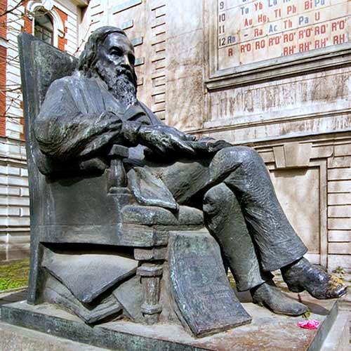 Monument to Dmitriy Mendeleev (Russian Chemist).