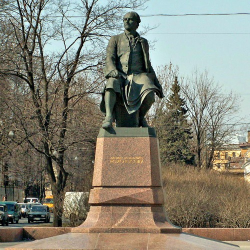 Monument to Mikhail Lomonosov (Russian Polymath and Scientist).