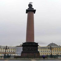 The Alexander Column on Palace Square.