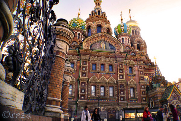 The famous Church of the Spilled Blood in St Petersburg, Russia.