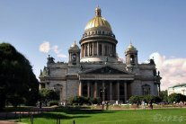 The famous St. Isaac's Cathedral in St Petersburg, Russia.