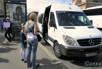 Photo of one of our minibuses touring in and around the city of St Petersburg, Russia.
