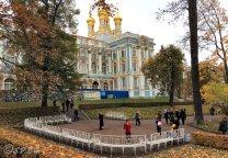 Photo of Catherine Palace in Tsarskoye Selo, St Petersburg, Russia.