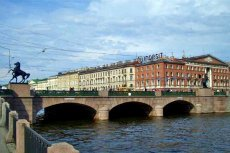 The Anichkov Bridge in St Petersburg, Russia - Photo courtesy of Vlad&Mirom, Wikimedia.