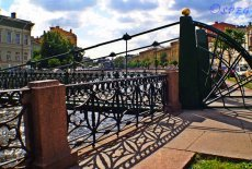 The Pochtamtsky Bridge in St. Petersburg Russia.
