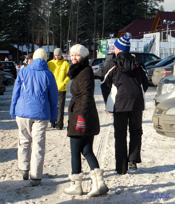Anstasia with her family at a ski resort near St Petersburg, Russia.