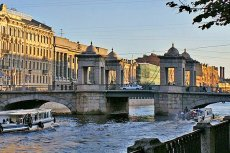 The Lomonosov Bridge in St Petersburg, Russia - Photo courtesy of Heidas, Wikimedia.