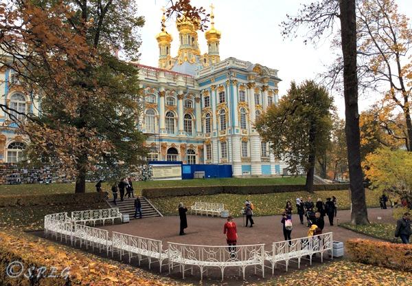 Catherine Palace in Tsarskoye Selo, St Petersburg, Russia.