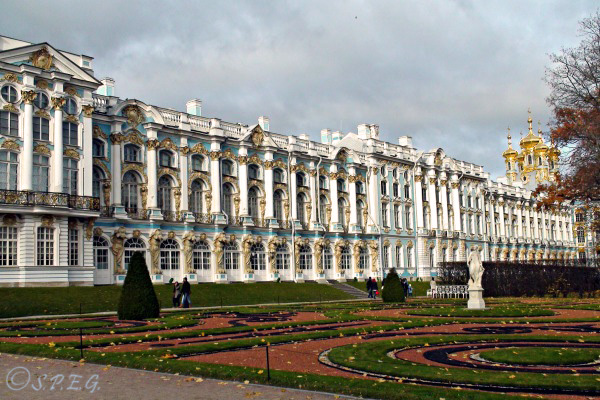 The Catherine Palace in Tsarskoe Selo outside St Petersburg, Russia.