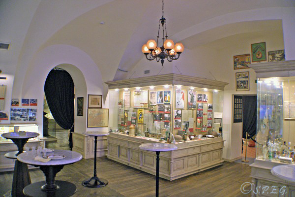 A look inside the Russian Vodka Museum in St Petersburg, Russia.