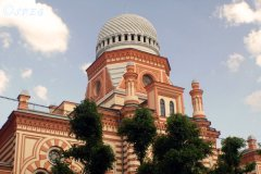 The beautiful Jewish Synagogue in St Petersburg, Russia.