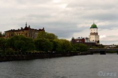 Vyborg city and its Medieval Castle, Russia.