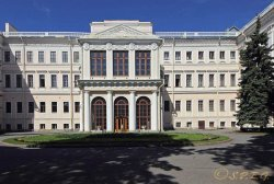 The Anichkov Palace in St. Petersburg Russia.