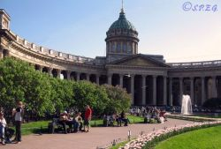 The Kazan Cathedral in St. Petersburg Russia.
