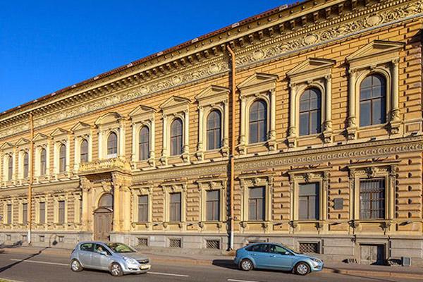 Palace of grand Duke Vladimir Alexandrovic in St. Petersburg Russia.