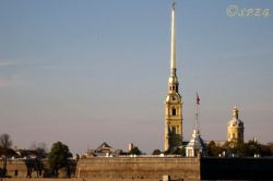 The Peter and Paul Cathedral in St Petersburg Russia.