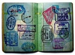 Several stamps on the passport!