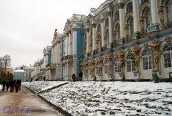 The Catherine Palace in Tsarskoye Selo.