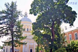 The Trinity Cathedral in the Alexander Nevsky Monastery.