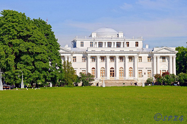 The Yelagin Palace in St. Petersburg, Russia.