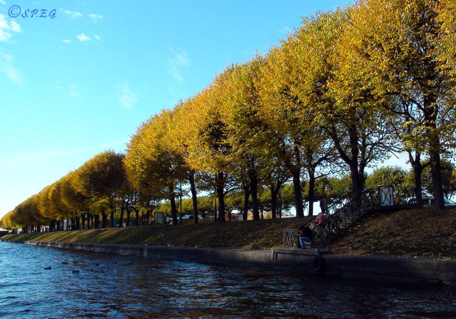 Photo of the Fontanka River, St Petersburg, Russia.