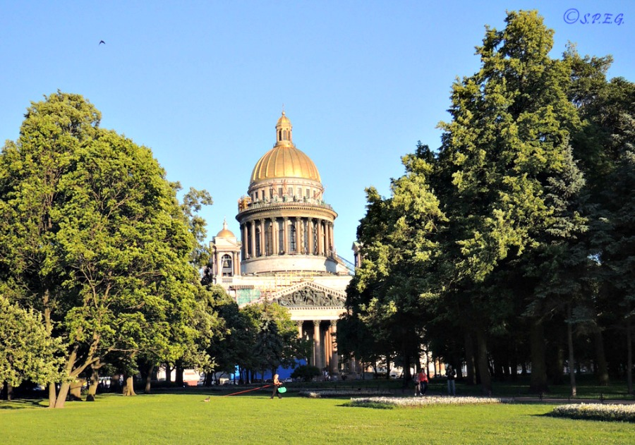 St. Isaac's Cathedral, St Petersburg, Russia.