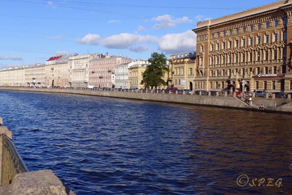 The Fontanka River in St. Petersburg Russia.