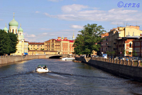 The Griboedov Canal in St. Petersburg Russia.