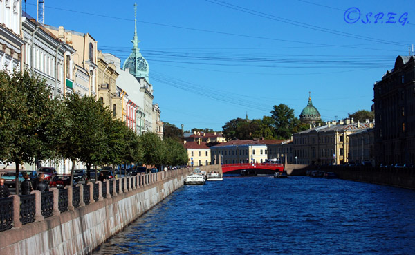 The Moika River in St. Petersburg Russia.