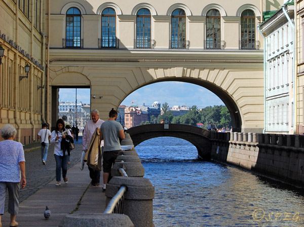 The Winter Canal in St. Petersburg Russia.