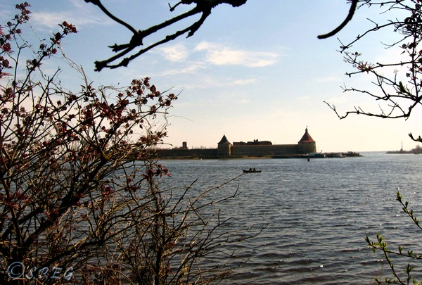 View of the Oreshek Island, near St Petersburg, Russia.