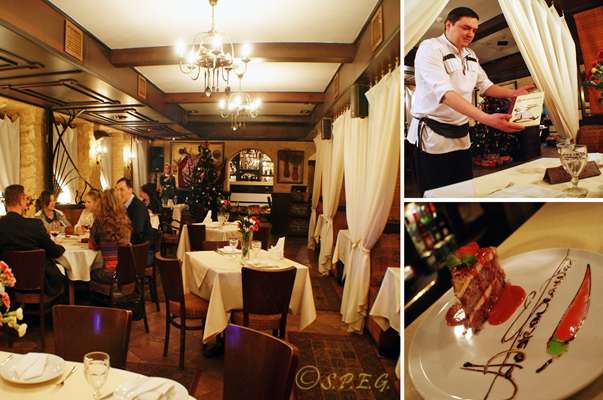 A look inside at the Adzhabsandal restaurant in St Petersbrug Russia.