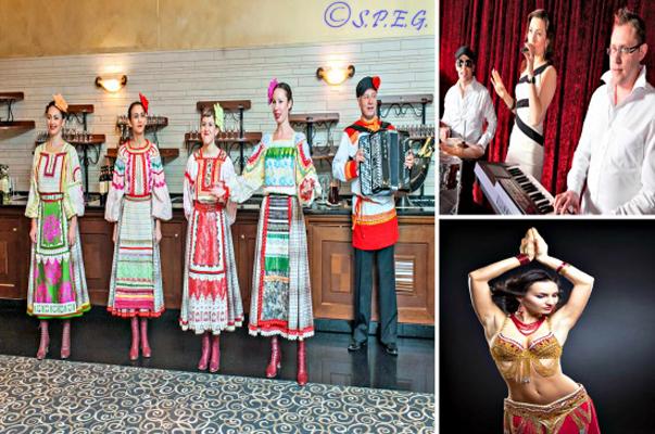 Cabaret Restaurants in St Petersburg Russia.