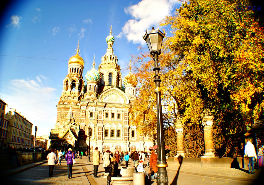 The Church of the Saviour on the Spilt Blood, St Petersburg, Russia.