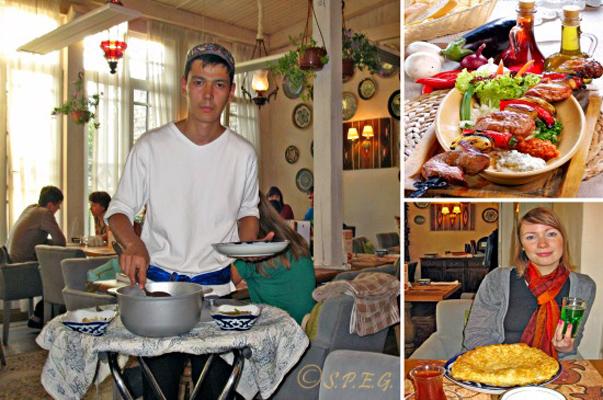 Uzbek restaurant in St Petersburg Russia serving Caucasian Cuisine.