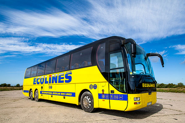 Ecolines -  Our favorite bus that goes to St Petersburg Russia.