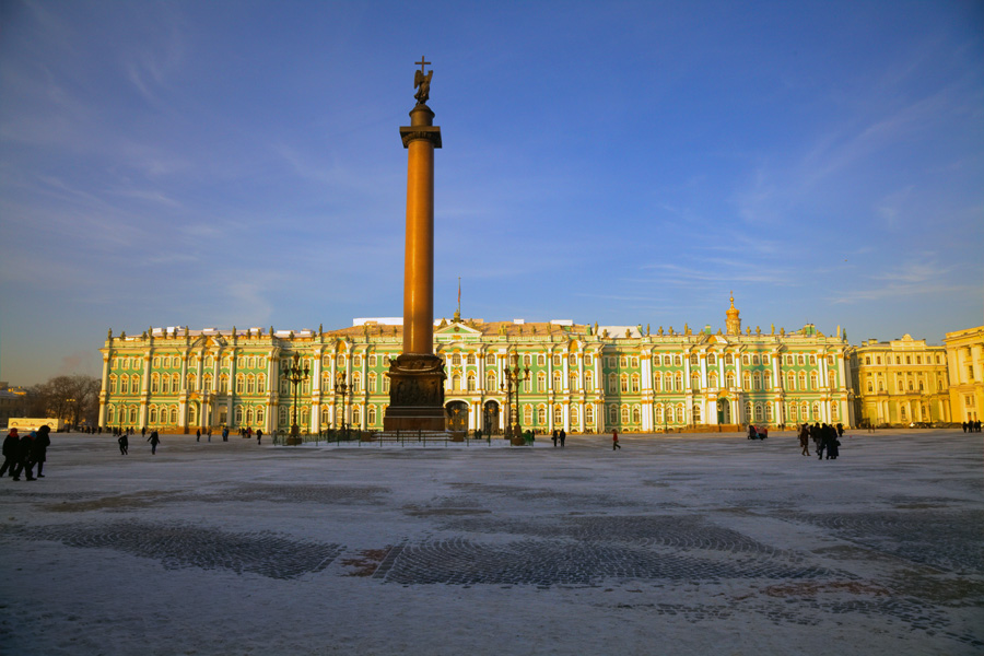 The famous Hermitage State Museum, St Petersburg, Russia.