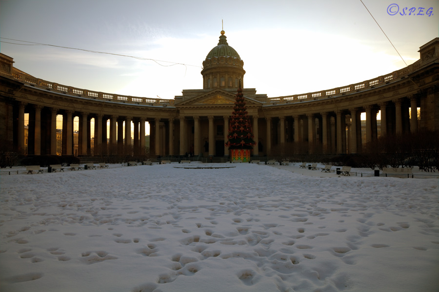 The Kazan Cathedral, St Petersburg, Russia.