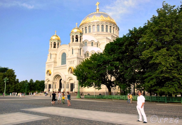 The Naval Cathedral in Kronstadt, St Petersburg, Russia.