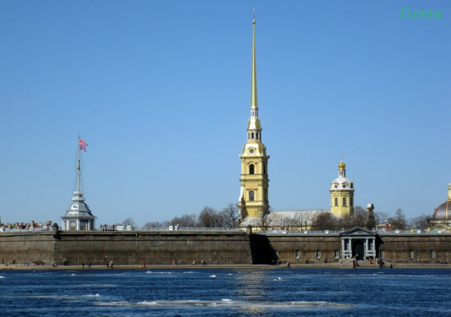 The famous Peter and Paul Fortress, St Petersburg, Russia.