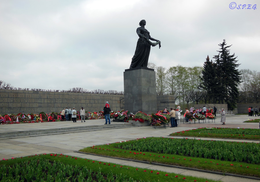 Piskarevskoye Cemetery, the most important war cemetery in St Petersburg, Russia.