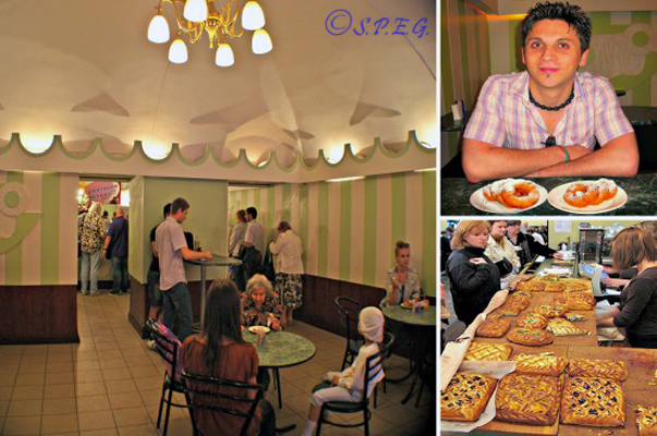 Russian Bakeries and Cafes in St Petersburg, Russia.
