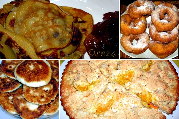 Different types of Russian Cakes.