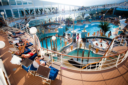 On board a cruise ship - Photo taken by usi.web.tr - Source unknown.