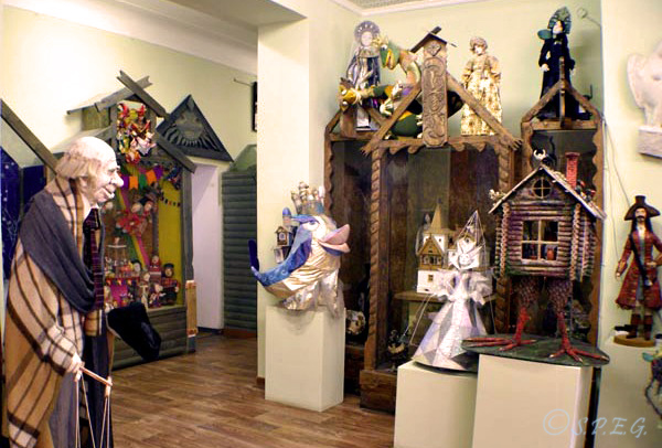 An exhibition of Russian dolls at the St Petersburg Dolls Museum, Russia.