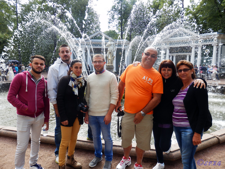 Lawrence and his family at Peterhof, St Petersburg, Russia.