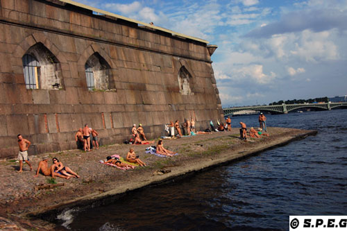 Summer in St Petersburg Russia.