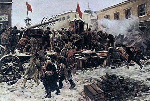 Painting of the 1905 Russian Revolution.